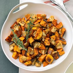 Roasted Sweet Potatoes and Apples recipe