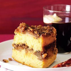 Upside-Down Sour Cream Coffee Cake with Sherry-Roasted Pears recipe