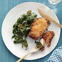 Coconut Chicken with Pickled Pepper Collards recipe