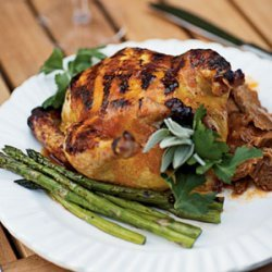Grilled Cornish Game Hens with Apricot-Chipotle Glaze recipe
