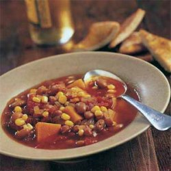 Winter Squash Stew with Pinto Beans and Corn recipe