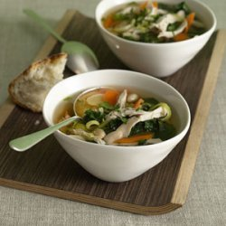 Chicken and White Bean Soup with Greens recipe