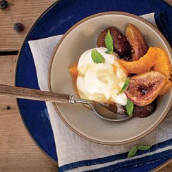 Honey-Baked Black Mission Figs with Orange and Ginger recipe