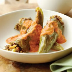 Green Chiles Stuffed with Almonds and Raisins recipe