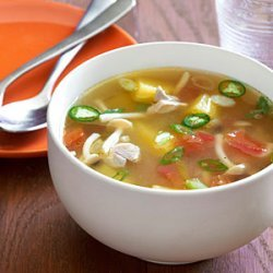 Pineapple Chicken Soup with Lemon Verbena recipe