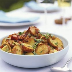 Chanterelle-Potato Salad with Pancetta, Shallots, and Thyme recipe