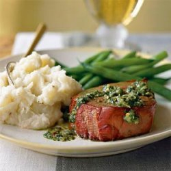Argentinean Oak-Planked Beef Tenderloin with Chimichurri Sauce recipe