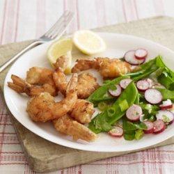 Snow Pea and Radish Salad With Ginger-Lime Vinaigrette recipe