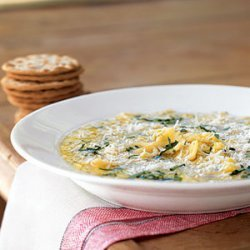 Summer Squash Soup with Pasta and Parmesan recipe