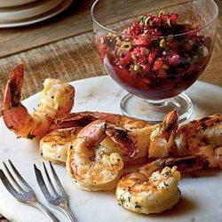 Grilled Shrimp with Fresh Cranberry Salsa recipe