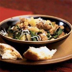 Sausage, Escarole, and White Bean Ragout recipe