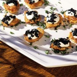 Potato Blini with Sour Cream and Caviar recipe