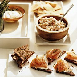 Herbed Bay Shrimp with Rye Crackers recipe