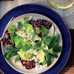 Mixed Lettuce, Pear, and Goat Cheese Salad with Citrus Dressing recipe