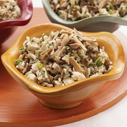 Chicken and Wild Rice Salad with Orange-Mango Vinaigrette recipe
