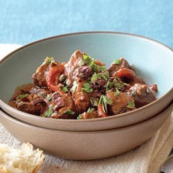 Spanish-style Lamb Stew with Roasted Red Peppers recipe