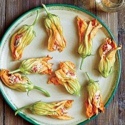 Pimiento Cheese-Stuffed Squash Blossoms recipe