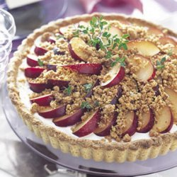 Plum Tart with Goat Cheese and Walnut-Thyme Streusel recipe