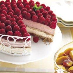 Raspberry and Peach Parfait Cake recipe