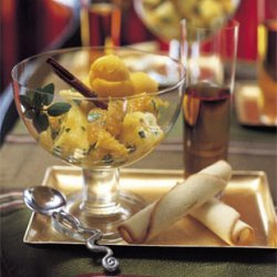 Oranges and Pineapple with Orange-Flower Water and Mint recipe