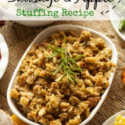 Apple and Sausage Stuffing recipe