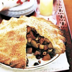 Apple Pie with Hazelnuts and Dried Sour Cherries recipe
