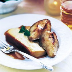 Maple Crème Flan with Maple-Glazed Pears recipe