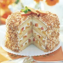 Coconut-Peach Layer Cake recipe