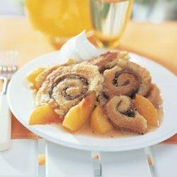Pinwheel Peach Cobbler recipe