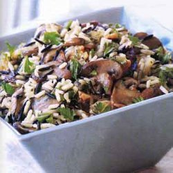 Wild Rice Stuffing with Wild Mushrooms recipe