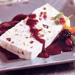 Ginger, Fig, and Cranberry Semifreddo with Blackberry Sauce recipe