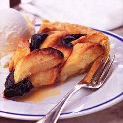 Apple and Prune Tart with Vanilla Ice Cream and Cognac recipe