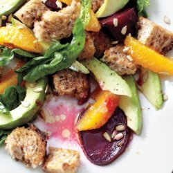 Beet, Avocado and Pink Grapefruit Salad with Sherry Dressing recipe