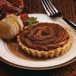 Apple and Caraway Tartlets with Cinnamon-Clove Ice Cream and Cider-Caramel Sauce recipe