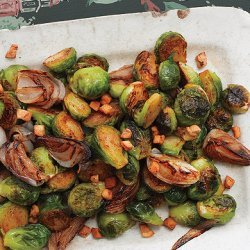 Brussels Sprouts with Shallots and Salt Pork recipe