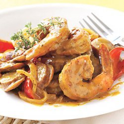 Andouille Sausage and Shrimp with Creole Mustard Sauce recipe