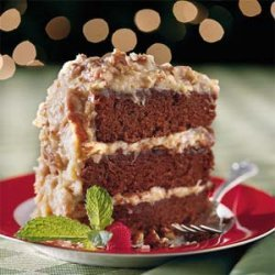 Chocolate Velvet Cake With Coconut-Pecan Frosting recipe