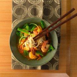 Asian Rice Noodle and Shrimp Soup recipe