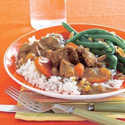 Curried Lamb Stew with Carrots recipe