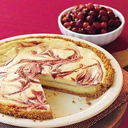 Cranberry Swirl Cheesecake Pie recipe