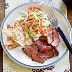 Hoisin Flank Steak with Asian Cucumber Salad recipe
