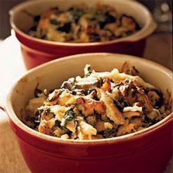 Chicken and Rice Casserole with Spinach and Shiitakes recipe