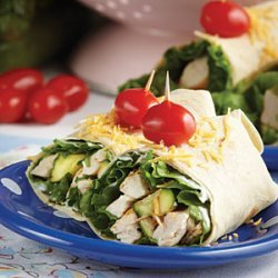 Grilled Chicken & Zucchini Wraps recipe
