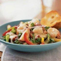 Mediterranean Potato Salad with Shrimp and Feta recipe