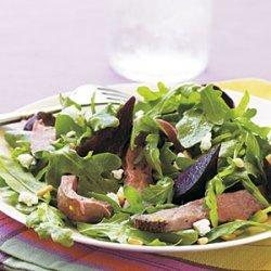 Roast Beef, Beet, and Arugula Salad with Orange Vinaigrette recipe