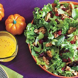Green Salad with Celery, Walnuts and Cranberries recipe