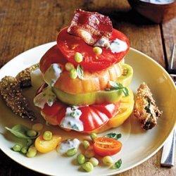Hot and Hot Tomato Salad recipe