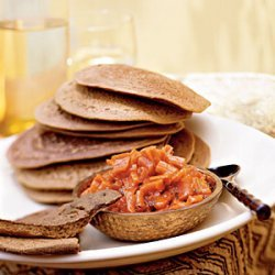 Teff Injera Bread with Carrot-Ginger Chutney recipe