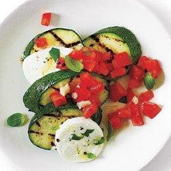 Caprese  Salsa  Zucchini with Sea Salt recipe