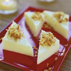 Coconut Pudding Triangles recipe